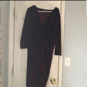 EUC Missguided velvet wrap dress